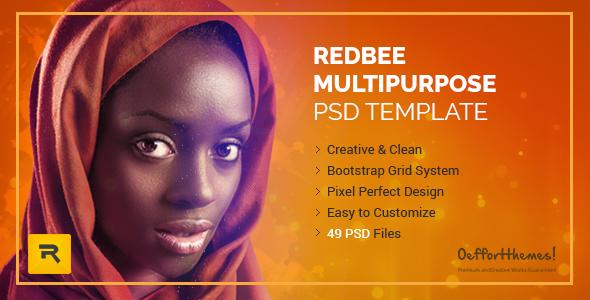Redbee | Multipurpose PSD Template vol-01