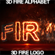 Fire Alphabet And Logo 3D - VideoHive Item for Sale