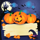 Halloween Background with Sign and Pumpkins - GraphicRiver Item for Sale