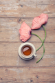 Enjoyable cup of tea with beautiful poppy flowers - PhotoDune Item for Sale