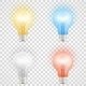 Set of Colored Transparent Realistic Glass Lights - GraphicRiver Item for Sale