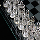 Clear Glass Chess Pieces In Starting Position On Board - VideoHive Item for Sale