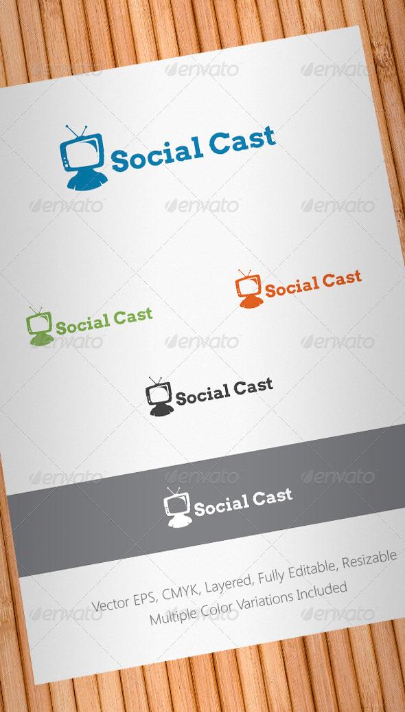 Social Cast Logo Template