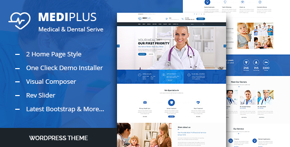 Medi Plus - Health Care WordPress Theme