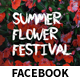 Flower Festival Event Facebook Covers and Post Banners - GraphicRiver Item for Sale