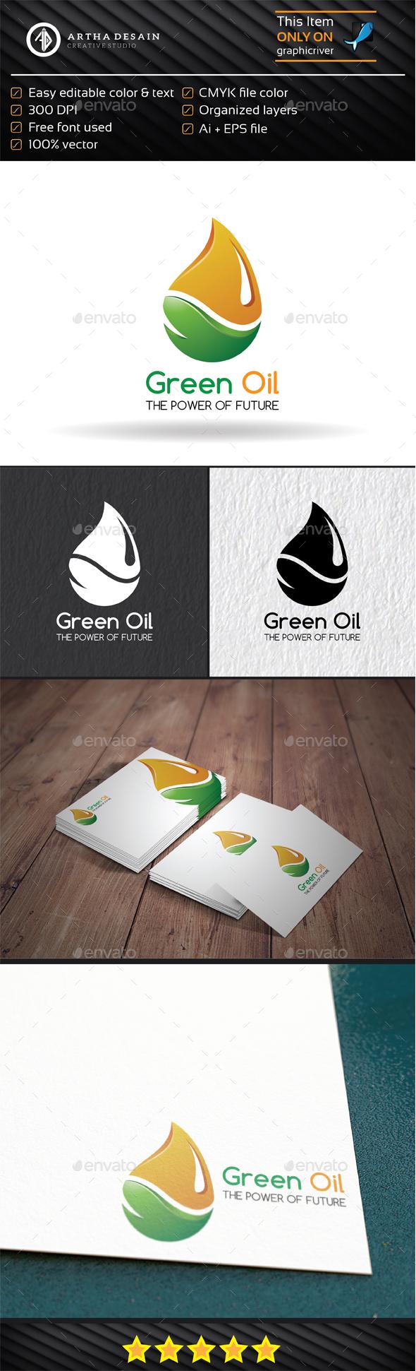 Green Oil - Logo Template