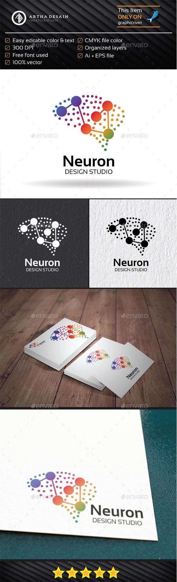 Neuron Brain - Logo Template