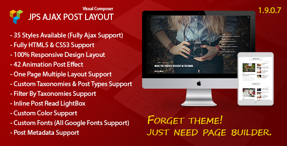 JPS Ajax Post Layout - Addon For Visual Composer Download