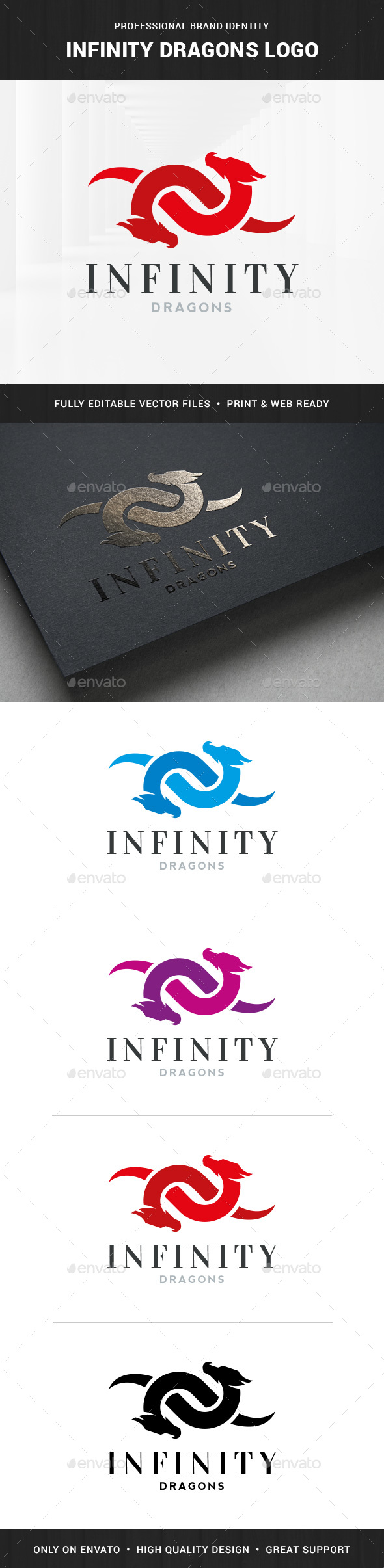 Infinity Dragons Logo Template