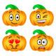 Halloween Pumpkin Emoji Emoticons - GraphicRiver Item for Sale