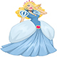 Princess Blond In Blue Dress - GraphicRiver Item for Sale