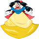 Princess In Blue Yellow Dress - GraphicRiver Item for Sale