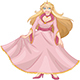 Blond Princess In Pink Yellow Dress - GraphicRiver Item for Sale