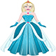 Snow Princess In Blue Dress Front - GraphicRiver Item for Sale