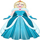 Snow Princess In Blue Dress And Cloak - GraphicRiver Item for Sale