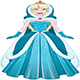 Snow Princess In Blue Dress Cloak And Hood - GraphicRiver Item for Sale