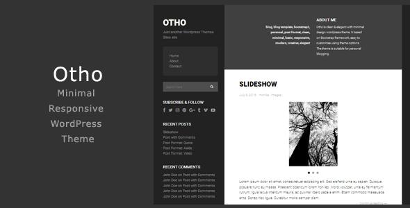 Otho - Minimal Responsive WordPress Theme