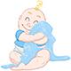 Baby Boy Hugs Blue Blanket - GraphicRiver Item for Sale