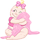 Baby Girl Hugs Pink Blanket - GraphicRiver Item for Sale