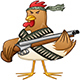 Chicken Fighter With A Shotgun - GraphicRiver Item for Sale
