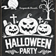 Halloween Party Chalk Flyer - GraphicRiver Item for Sale