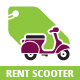 Rent Scooter Logo - GraphicRiver Item for Sale