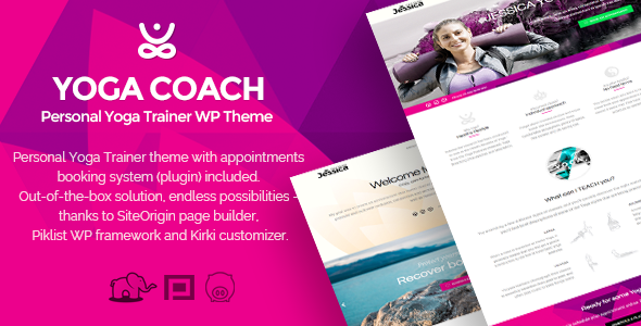 Yoga Coach - personal trainer WP theme (with booking system)