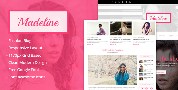 Madeline Fashion blog html Template