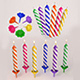 high poly Birthday candles - 3DOcean Item for Sale