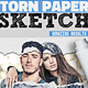 Sketch and Torn Paper Photo Effect Photoshop Action - GraphicRiver Item for Sale
