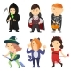 Cute Cartoon Kids In Halloween Costumes - GraphicRiver Item for Sale