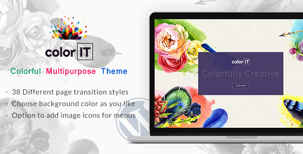 Color Folio - Freelance Designer WordPress Theme