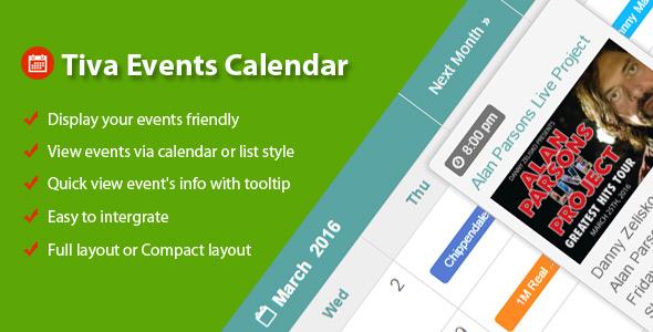 Tiva Events Calendar