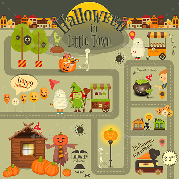 Halloween in Town