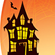 Halloween Double Exposure Background with Haunted House and Pumpkins. - GraphicRiver Item for Sale