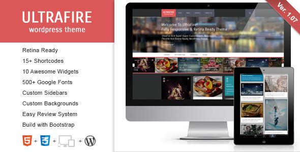 UltraFire - Retina Responsive WordPress Blog Theme