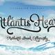 Atlantis Heart Brush Font - GraphicRiver Item for Sale