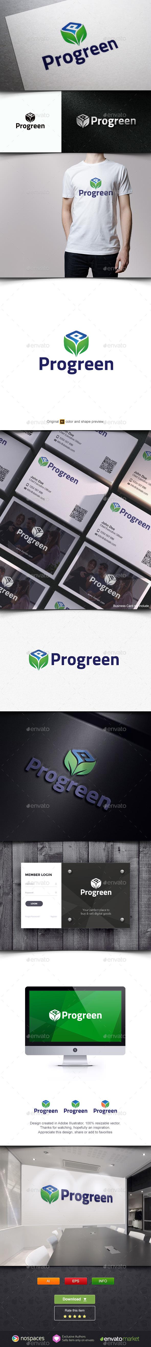 Leaf Box Logo Template