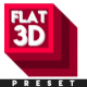 Flat 3D V2 - After Effects Preset (CS6 and Above) - VideoHive Item for Sale