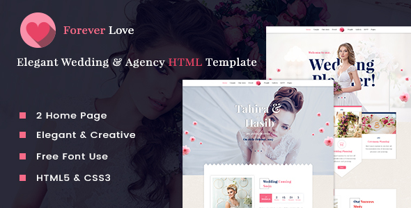 Forever Love - Wedding & Agency HTML Template