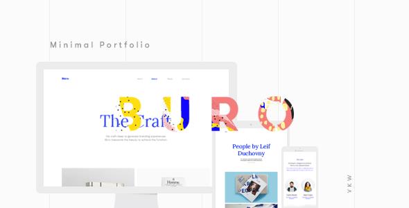 Buro - minimalny szablon portfela Bootstrap i typografii