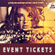 Glam Party & Club Event Tickets & Passes - GraphicRiver Item for Sale