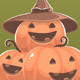 Set of Halloween Illustrations with Pumpkins - GraphicRiver Item for Sale