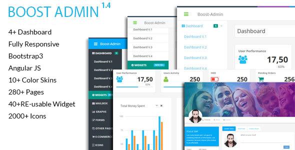 Boost - Responsive + Angular JS Admin Web App Kit