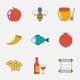 Rosh Hashanah, Shana Tova Flat Line Icons - GraphicRiver Item for Sale