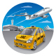 Taxi in Airport - GraphicRiver Item for Sale