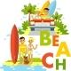 Beach Surfer Set - GraphicRiver Item for Sale