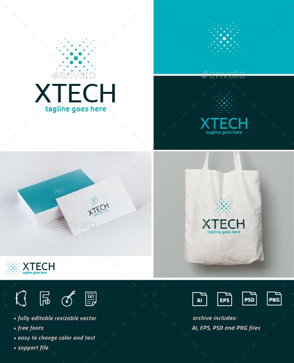 Xtech Logo • Letter X