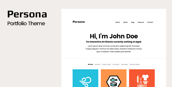 Persona - Portfolio WordPress Theme