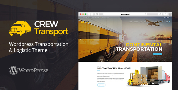 Crewtransport - WordPress Transportation & Logistic Theme